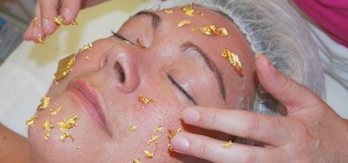 Luxe goud gezichtsbehandeling